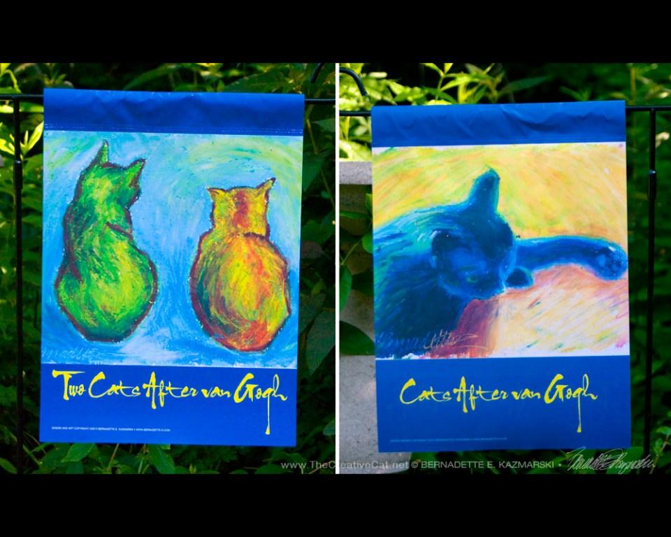 Garden Flag, Cats After Van Gogh