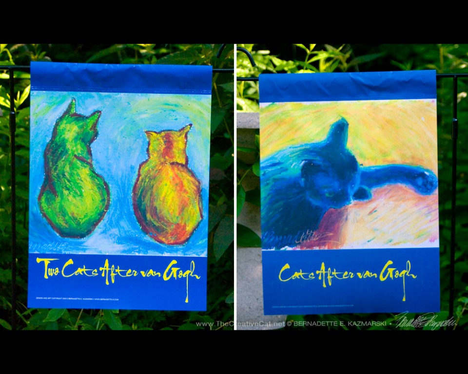Garden Flag, Cats After Van Gogh