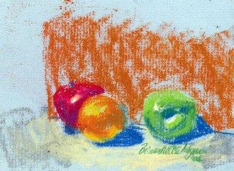 """Fruit"", original pastel, 5.5"" x 3.5"", 2000 © Bernadette E. Kazmarski"