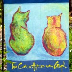 Garden Flag, Two Cats After van Gogh