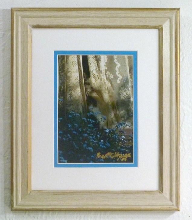 """Sophie Keeps an Eye on Things"", framed photo print."