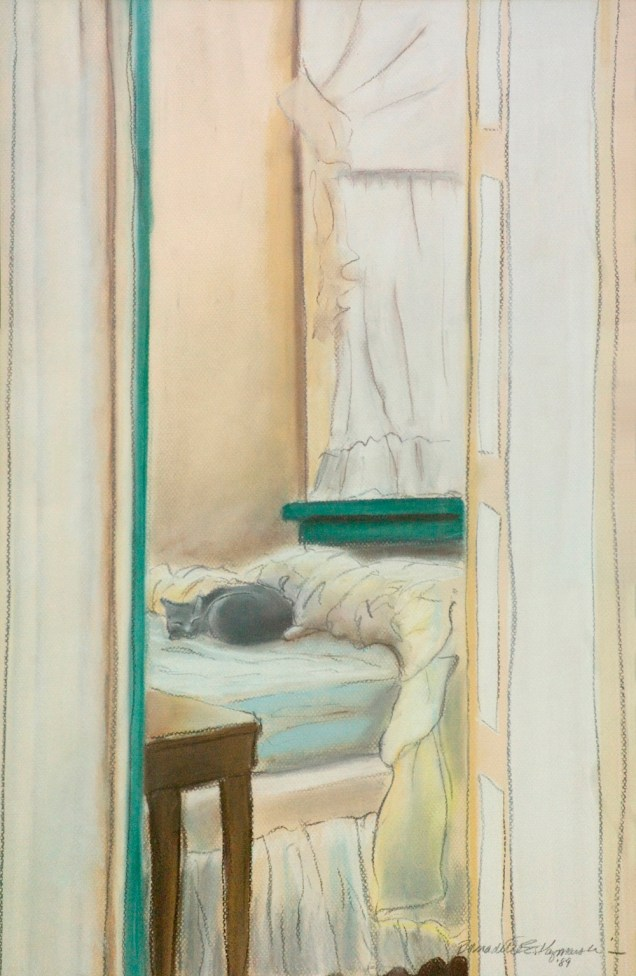 """Sunday Morning"", pastel and charcoal on Canson paper, 19″ x 26″, 1989 © Bernadette E. Kazmarski"