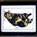 B. Framed, single matted (cream black core), tinted print, 11 x 14,
