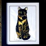 B. Framed, single matted (cream black core), tinted print, 11 x 14