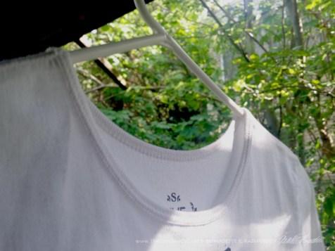 Detail of neckline