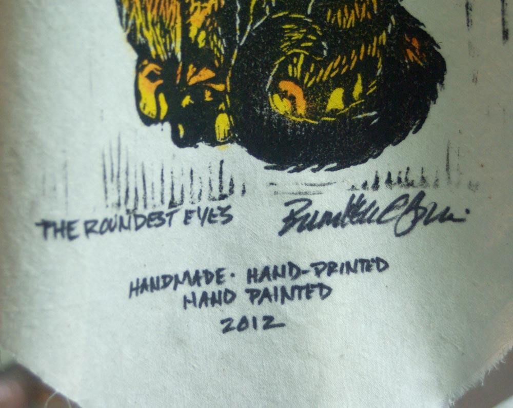 Detail of signature.