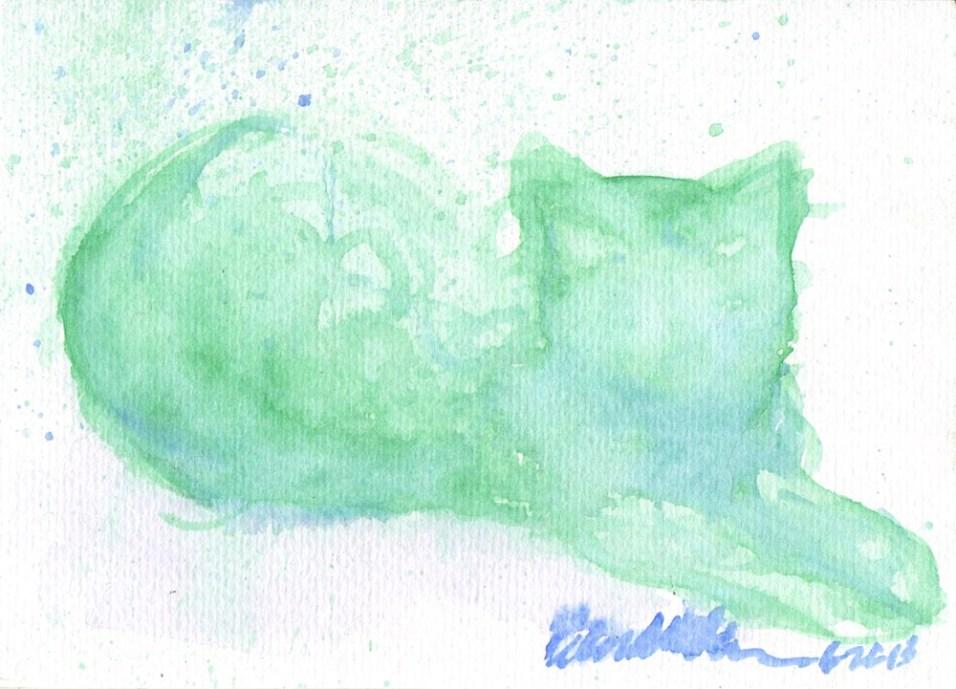 """Leaves and Shadows"", watercolor, 5"" x 7"" © Bernadette E. Kazmarski"