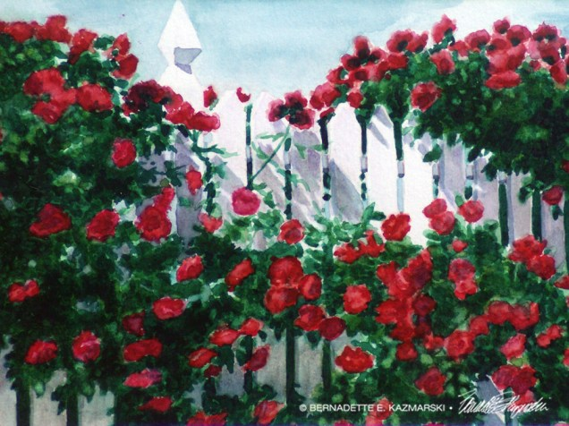 Red Climbers, watercolor, 12 x 16 print or canvas.