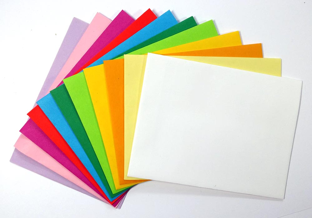 Envelope colors.