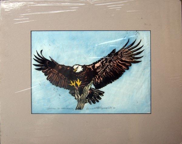 D. Single matted (cream black core), tinted print, 11 x 14, $55.00; +20.00