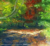 Bright Autumn, center of painting.