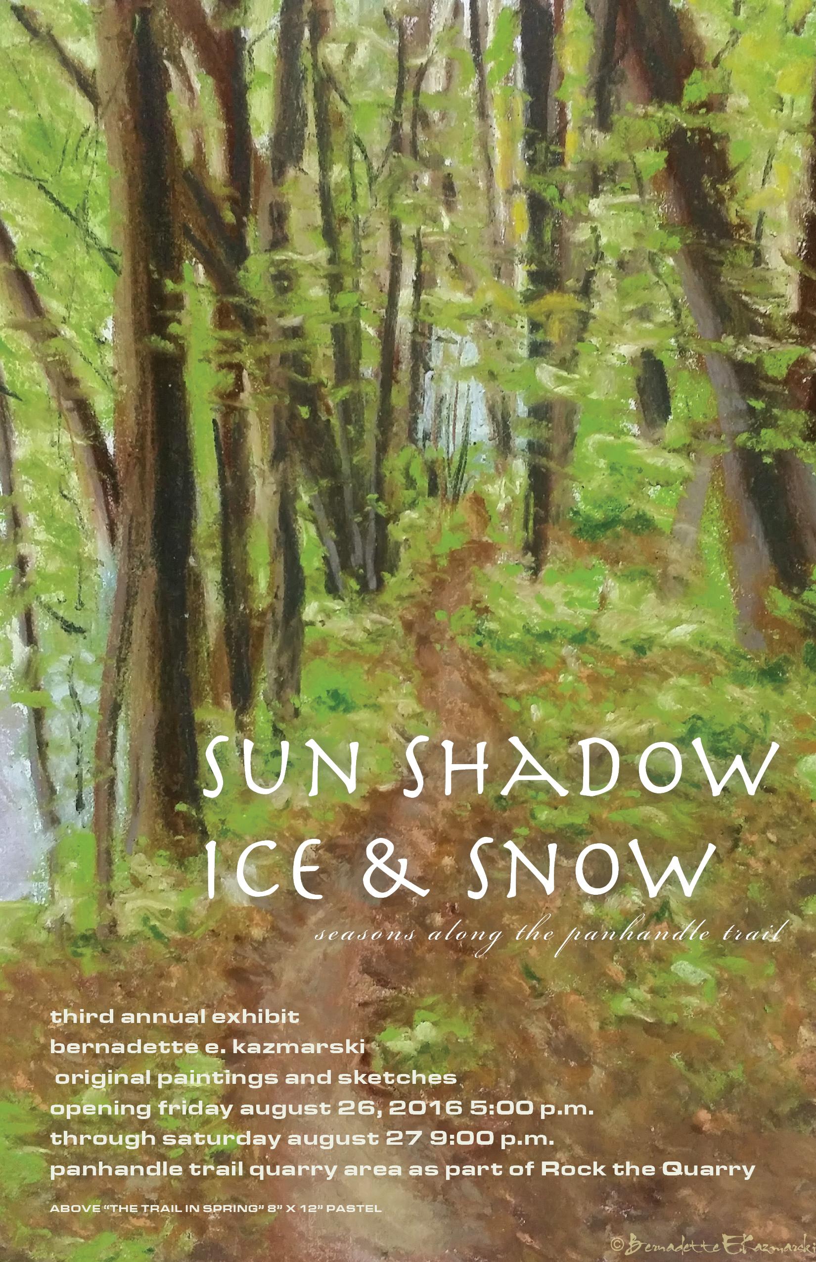 Sun Shadow Ice & Snow: Seasons Along the Panhandle Trail 2016