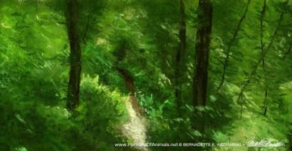 Running Through the Woods detail.