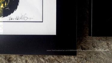 Frame sample for framed print.