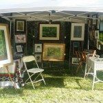My tent set up for my exhibit and ready for customers.
