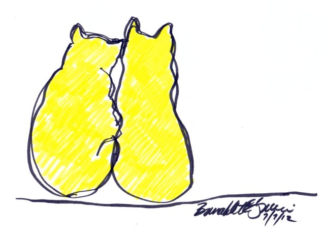 Two Yellow Cats