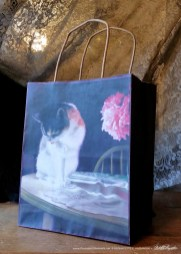 Peaches and Peonies Fine Art Gift Bag