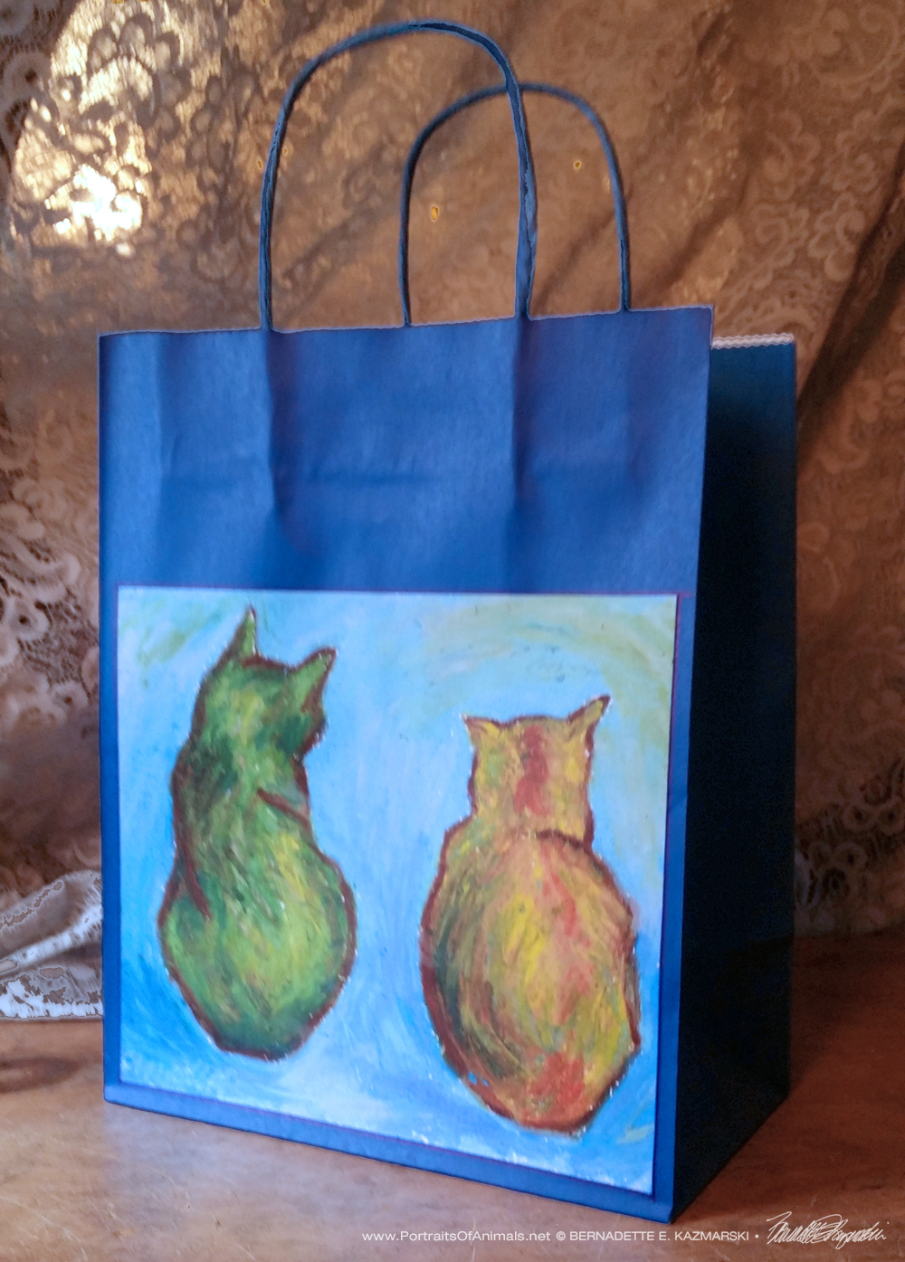 Two Cats After van Gogh Daily Sketches Gift Bag