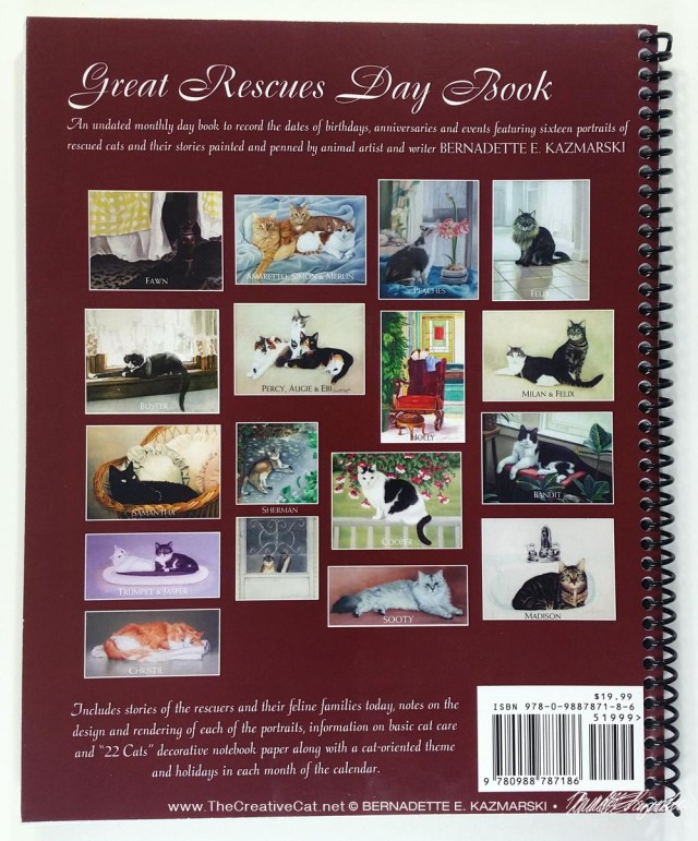 Great Rescues Day Book portraits from the back of the book.
