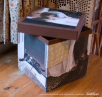 """Fine Art Cats"" keepsake box."