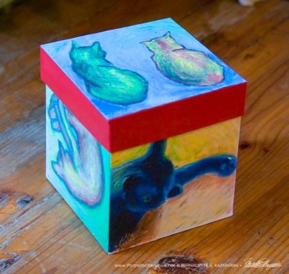 Cats After van Gogh Keepsake Cube
