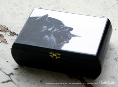 Black and Light Repurposed Wooden Box Keepsake