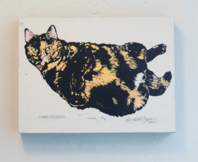 """The Goddess"" wood-mounted print."