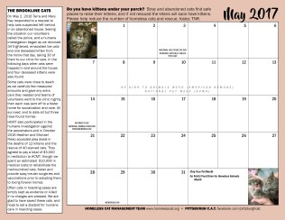 May calendar and sponsor ad.