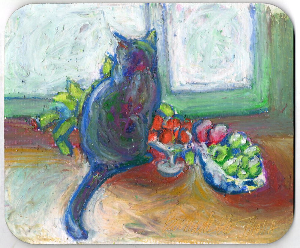 Cat With Fruit