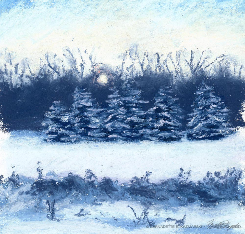 """Solstice"", pastel, 6"" x 6"", 2003 © Bernadette E. Kazmarski"