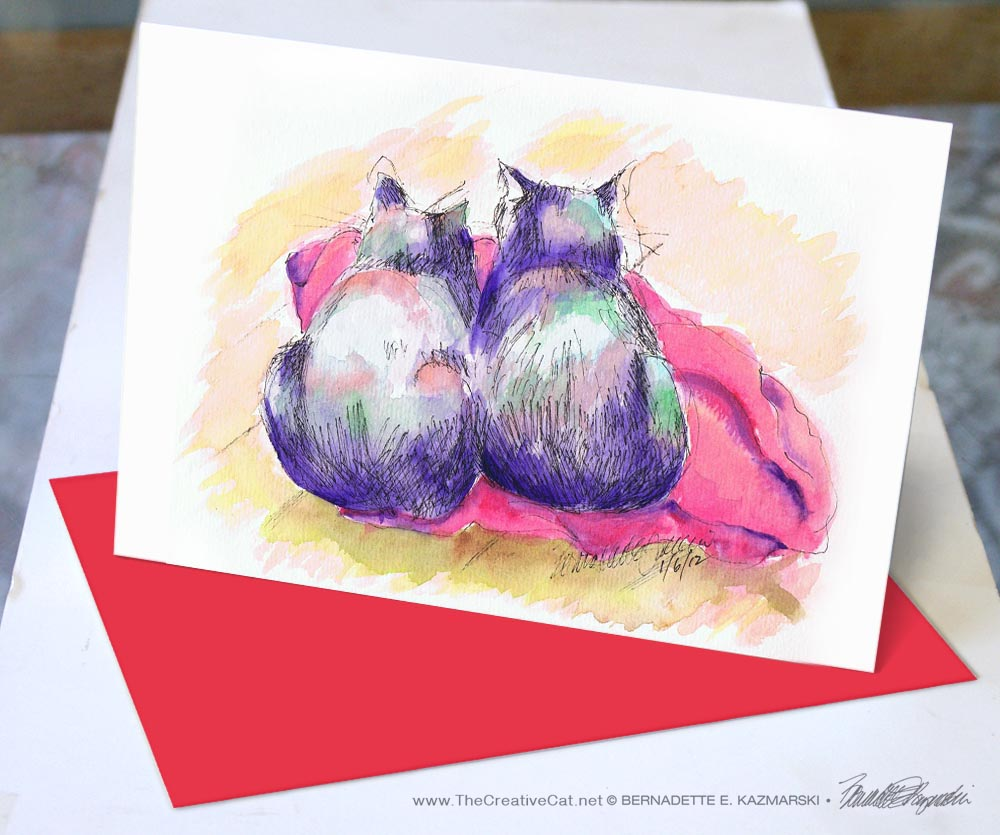 Two Purple Cats.