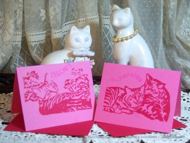 Magenta cards, two designs.