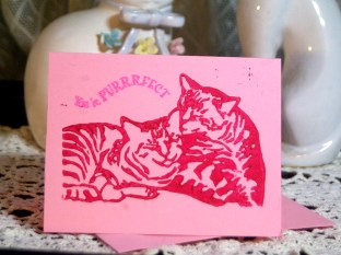 Pink cards.