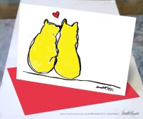 Two Yellow Cats Valentine.