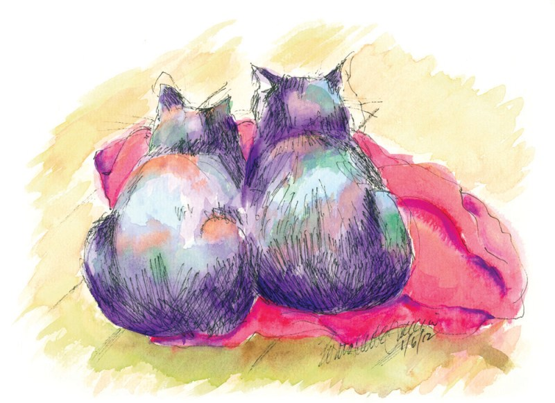 """""""Purple Cats, Red Blanket"""""""