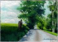 Summer Back Road, pastel on prepared board, 8 x 12 © Bernadette E. Kazmarski