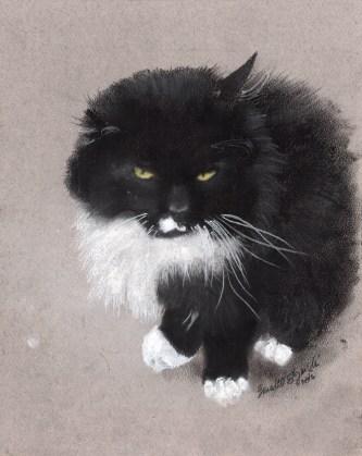 """Henry"", charcoal and pastel on Pastello paper , 5"" x 7"" © Bernadette E. Kazmarski"