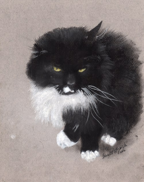 """Henry"", charcoal and pastel on Pastello paper , 5"" x 7"" © Bernadette E. Kazmarski"