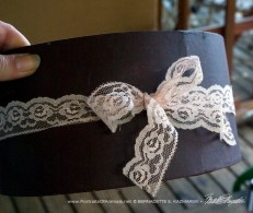 paint color and lace bow embellishment