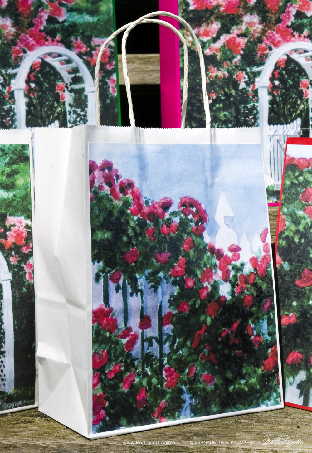 Red Climbers Gift Bag, White
