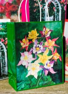 My Mother's Columbines Gift Bag, Green