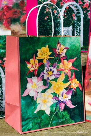 My Mother's Columbines Gift Bag, pink