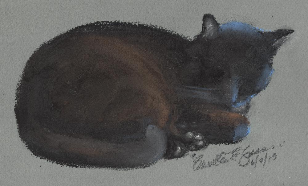 """""""Beans"""", pastel on pastello paper, 10″ x 6″ © Bernadette E. Kazmarski"""