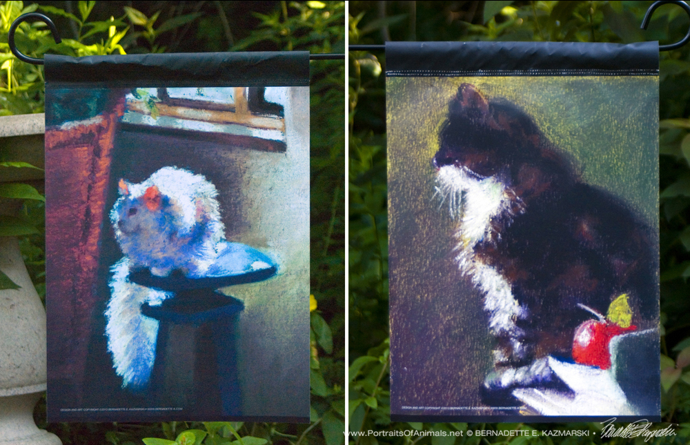 Cat Art in Your Garden: 25% Off Impressionist and van Gogh Garden Flags