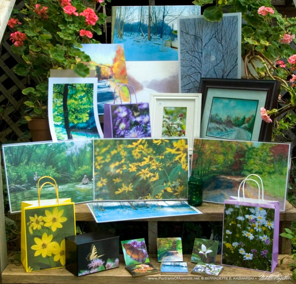 Handmade gifts and merchandise made from my images of the trail and surrounding woods and land.