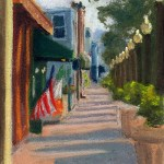 Main Street, September Morning, pastel, 8 x 11 © Bernadette E. Kazmarski