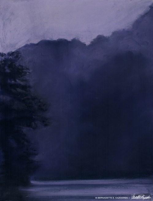 Dusk After the Storm, 9 x 12, pastel © Bernadette E. Kazmarski