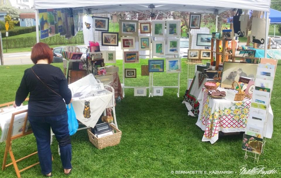 Display at the Rennerdale United Presbyterian Church Art & Vendor Fair
