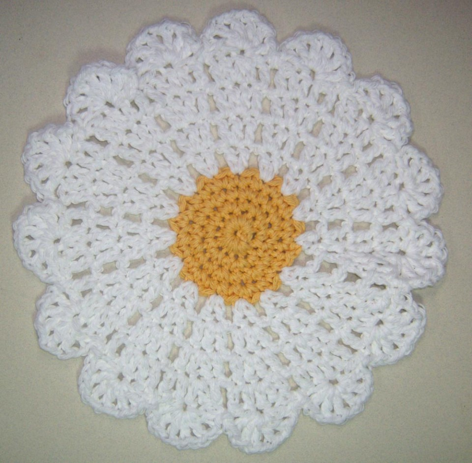 The Daisy Washcloth
