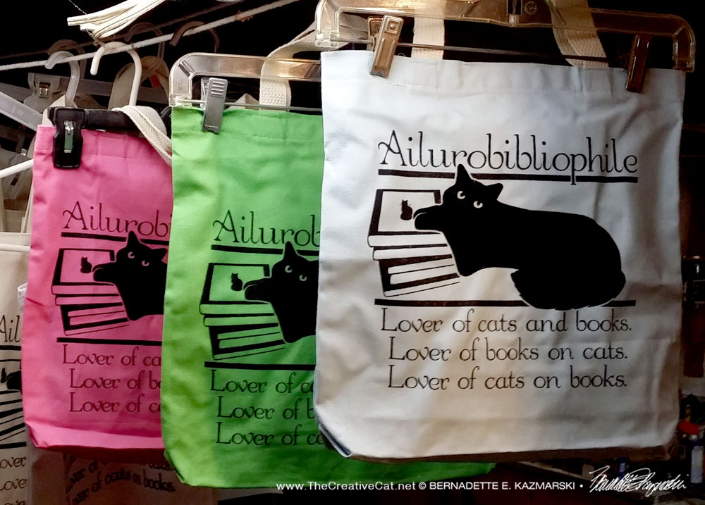 Ailurobibliophile bags in colors.